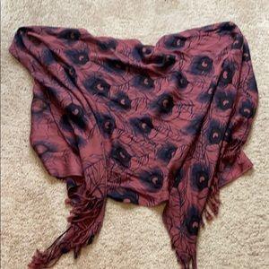 Peacock scarf or shawl